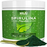 MAJU's Spirulina Powder - California Grown, Non-Irradiated, Non-GMO, Better than Chlorella, Pesticide-Free, Non Organic, Considered the Cleanest California Grown Spirulina