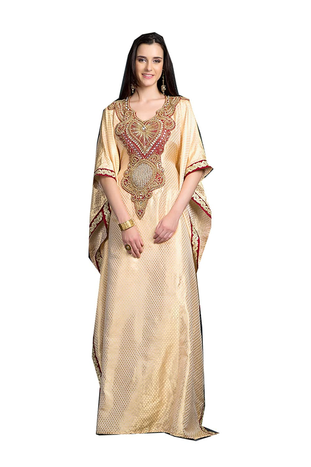 gold 30 Da Facioun Indian Women Designer Latest Fancy Party Wear Heavy Kaftan