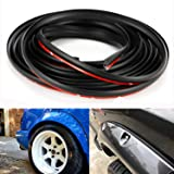 D-Lumian Fender Flare Edge Rubber Trim - Gasket Welting T-Style 30 Feet Length EPDM Trims for Car and Truck Wheel Wells, Bond