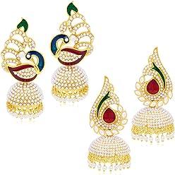 Sukkhi Jhumki Earrings for Women (Golden) (325CB1150)