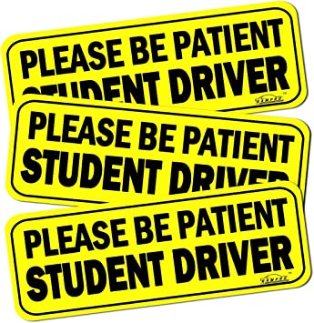 Student Driver Sign Sticker Magnet Highly Reflective New Driver Vehicle Bumper 3
