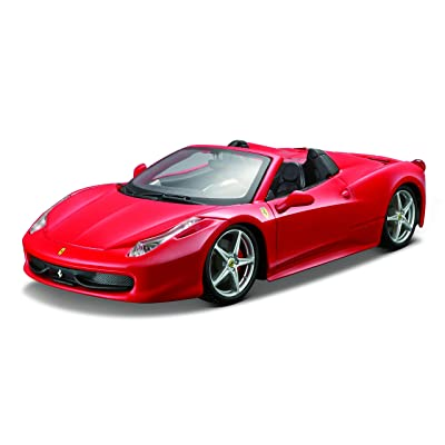 Ferrari Bburago B18-26017 1:24 Scale Race and Play of The 458 Spider Sports Car Die-Cast Model: Toys & Games