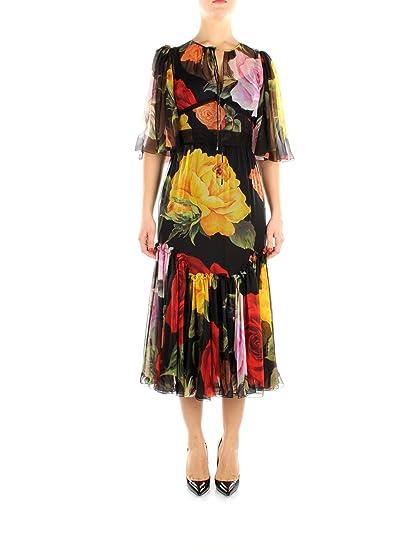 3228320384df Vestiti Lunghi Dolce Gabbana Donna - Seta (F64W5THS1MQ)  Amazon.it   Abbigliamento