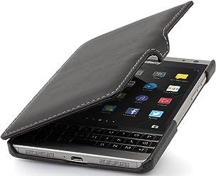 StilGut Book Type avec Clip, Housse en Cuir pour Blackberry Passport Silver Edition, en Noir Nappa