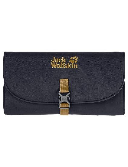 fc7307c168 Amazon.com   Jack Wolfskin Waschsalon Roll-Up Wash Bag Toiletry Bag Dopp Kit  with Mirror Ebony   Sports   Outdoors