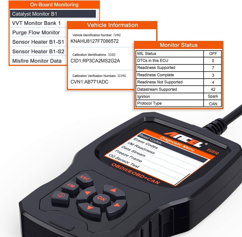 ANCEL EU510 Lector de Códigos OBDII Herramienta de Error de Motor ...