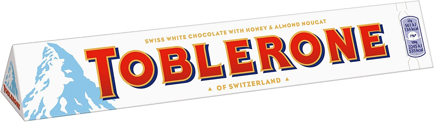 Toblerone Barra de chocolate blanco, grande, 360 g