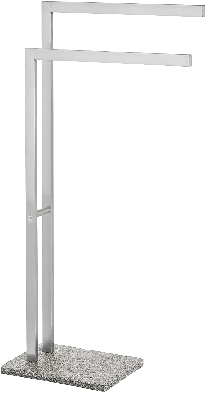 WENKO Granite Towel Stand, 17.13 x 33.86 x 7.87 inch, Satinised