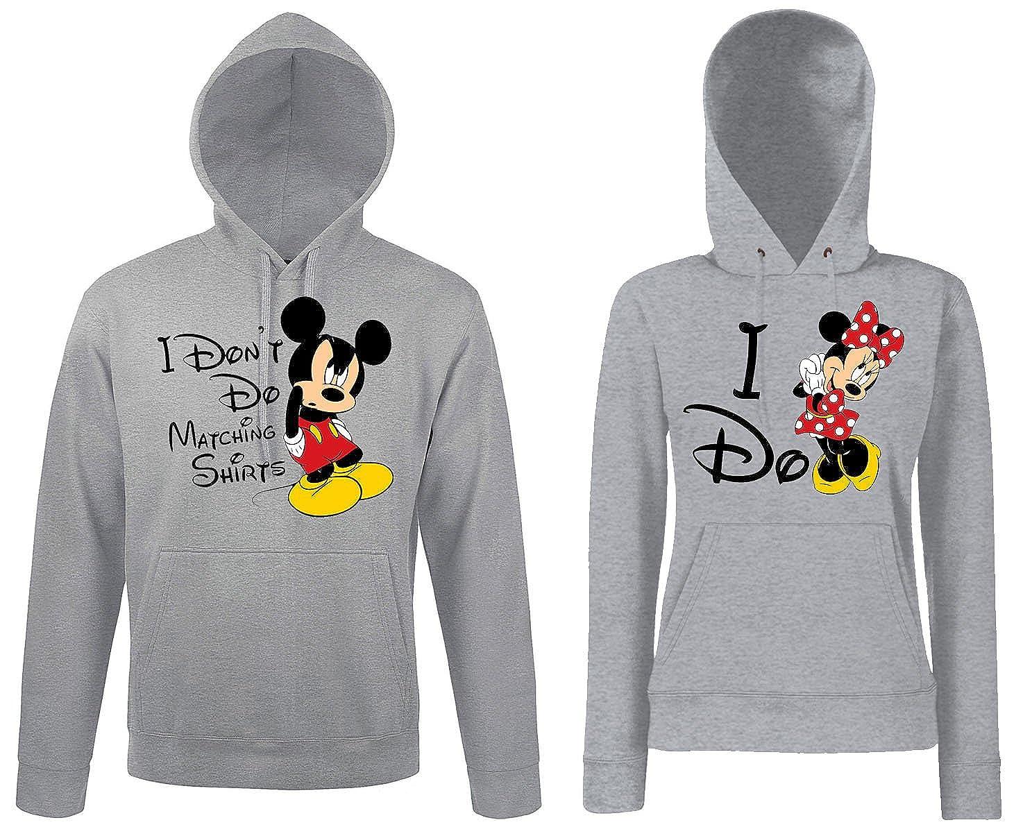 TRVPPY Partner Herren + Damen Hoodies Mickey & Minnie MR MRS, in versch. Farben B0773NZDTT Kapuzenpullover Bevorzugte Boutique