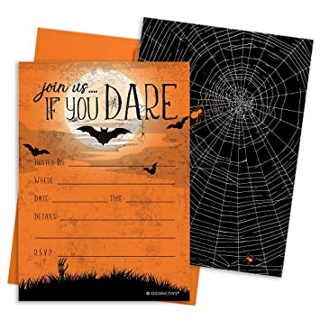 halloween party invitation cards and envelopes 12 count