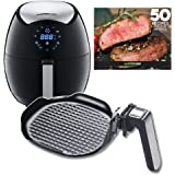 GoWISE USA 3.7-Quart 7-in-1 Electric Air Fryer + Insert Grill Pan with 50 Recipes for your Air Fryer Book