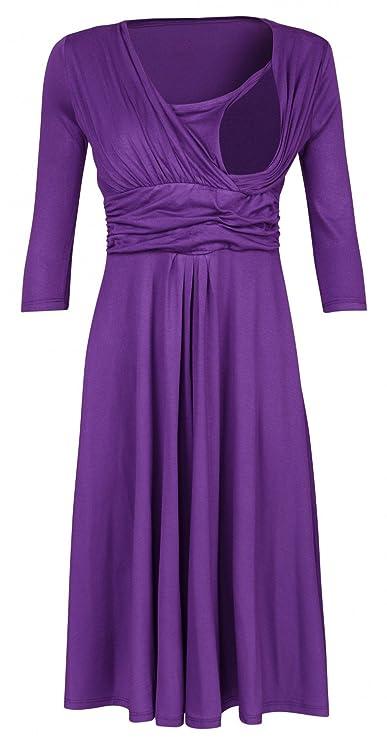 Zeta Ville Premamá - Vestido de Lactancia Efecto 2 en 1 - para Mujer - 526c: Amazon.es: Ropa y accesorios