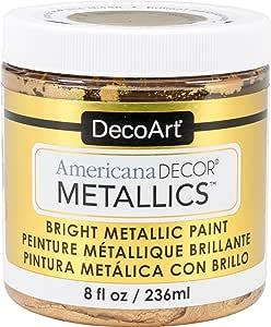 DecoArt DECADMTL-36.4 Ameri Deco Mtlc 24K Gold Americana Decor Metallics 8oz, 1