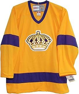 36d5a99a Amazon.com : CCM Vintage Los Angeles Kings 1967 Purple Jersey : Clothing