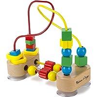 Melissa & Doug Primer laberinto de cuentas, juguetes de desarrollo, juego educativo de madera, confección de calidad y construcción robusta, 19.685 cm alto x 9.525 cm ancho x 17.78 cm largo