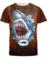 Great White Trophy All Over Adult T-Shirt