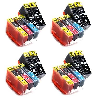 20x compatibles con los cartuchos de tinta de la impresora Canon - reemplazar CANON CLI-526 / PGI-525 - CON CHIP - para su uso con Canon Pixma iP4850, ...