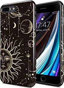 DorisMax iPhone 8 Plus Case,iPhone 7 Plus Case,[Pass 15ft. Drop Tested] Cover with Designs for Girls Women,Shockproof Protective Phone Case for Apple iPhone 7 Plus/iPhone 8 Plus Plants and Universe