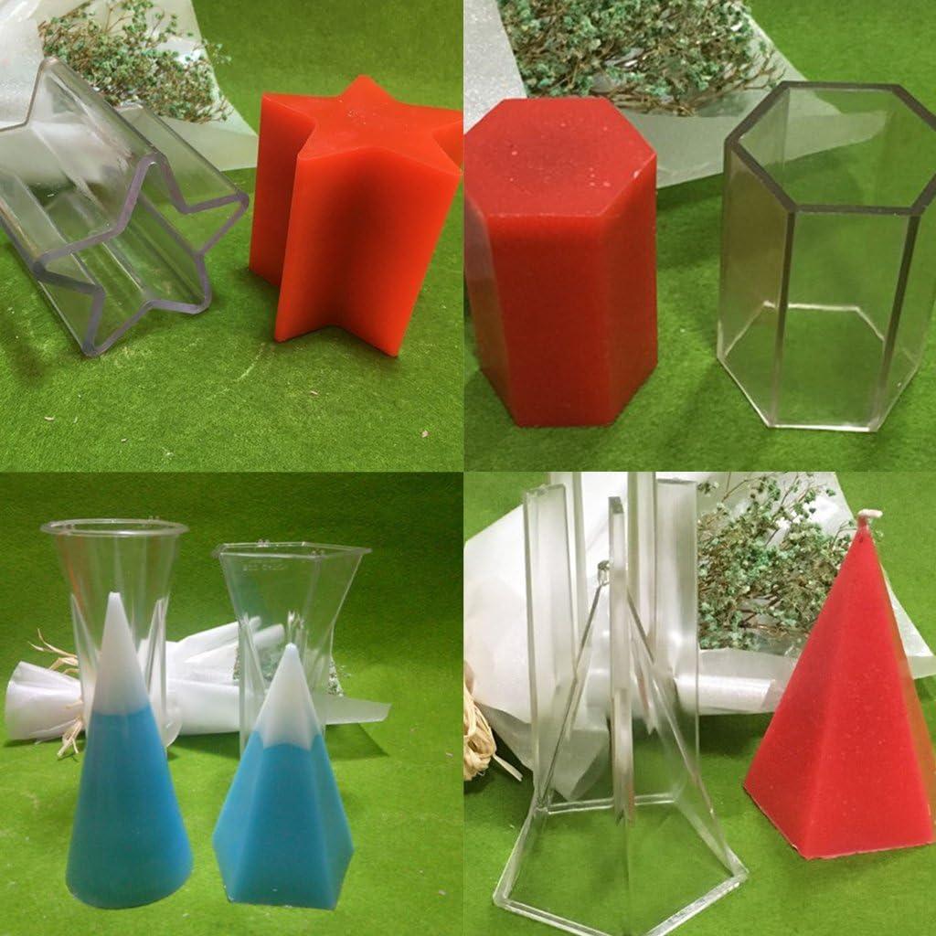 Gazechimp 3D Moule /à Bougies Fleur DIY Fondant /à Savone G/âteau Chocolat Sucre /à Mod/èle