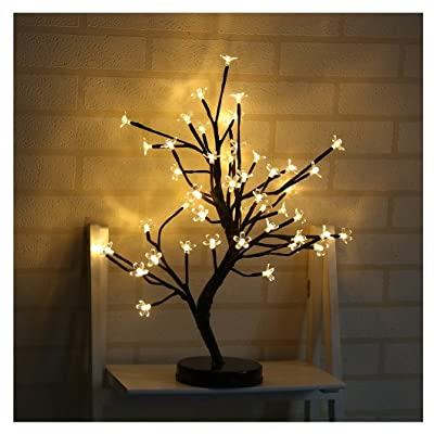 Kangrunmy Lumieres Decoratives 48 Fleur De Prunier Arbres En Pot