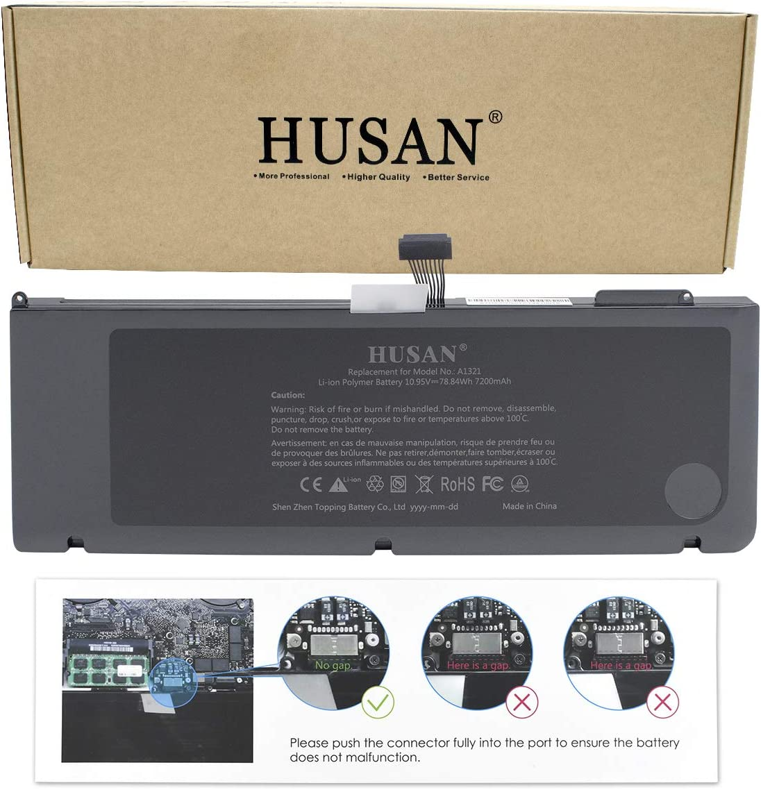 HUSAN A1321 Laptop Battery for MacBook Pro 15 inch A1286 ,fit MB985 MB986J//A MB986 MC118 020-6380-A Only for Mid 2009 2010 Version