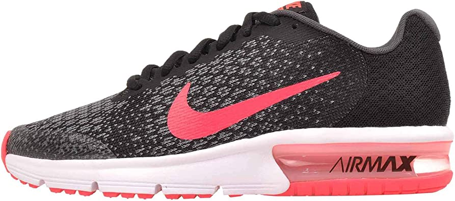 Nike Air MAX Sequent 2 (GS), Zapatillas de Running para Mujer, Multicolor (Black/Racer Pink/Anthracite/Cool Grey 005), 36.5 EU: Amazon.es: Zapatos y complementos