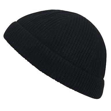 ililily Waffle Pattern Cotton Vintage Short Beanie Soft Hat Casual ... 61d608662dd