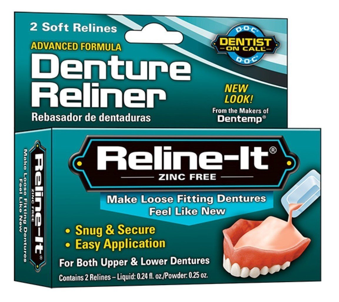 Denture Reliner Reline-It 2 Soft Relines (6 Pack) Majestic