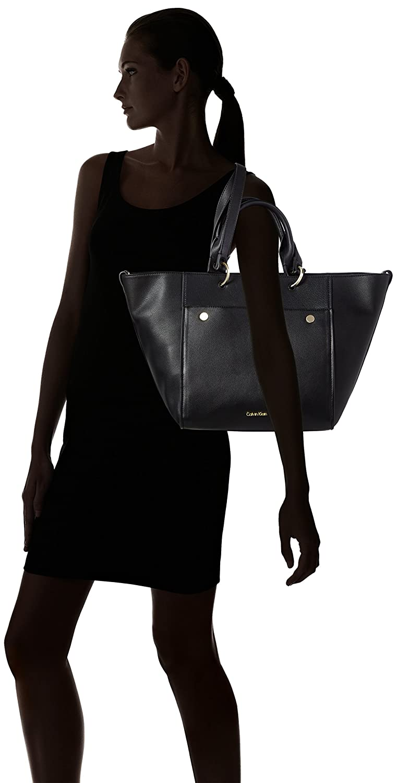 Damen Le4 Large Tote, Schwarz (Black), 23x28x40 cm Calvin Klein