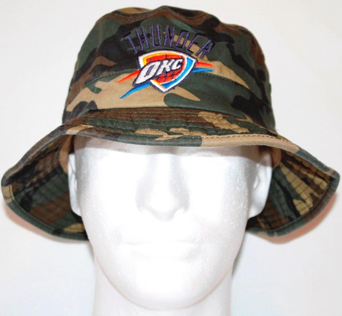 e1bc727fbf91f Amazon.com   Oklahoma City Thunder Adidas NBA Bucket Hat - Camouflage    Sports   Outdoors