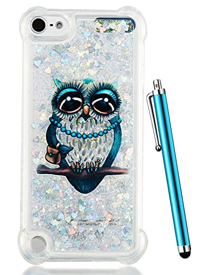 buy online 0c115 d1600 iPod Touch 6th Generation Case,iPod Touch 6 Case Glitter,CAIYUNL Liquid  Clear Bling Sparkle Cute Quicksand Design Protective Kids Girls Men Slim  TPU ...