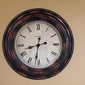 20-Inch Westclox 32059 Classic Round Marbel Case Wall Clock