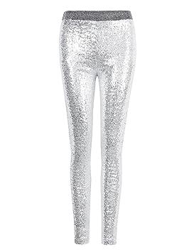 100% authentique 3686a 2eda9 Zantec Femme Legging Punk Rock Style brillant métal en ...