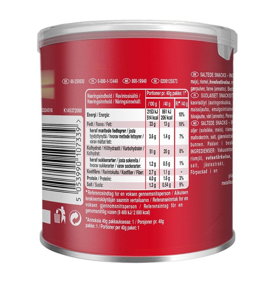 Pringles Original, 12 unidades (12 x 40 g): Amazon.es: Alimentación y bebidas