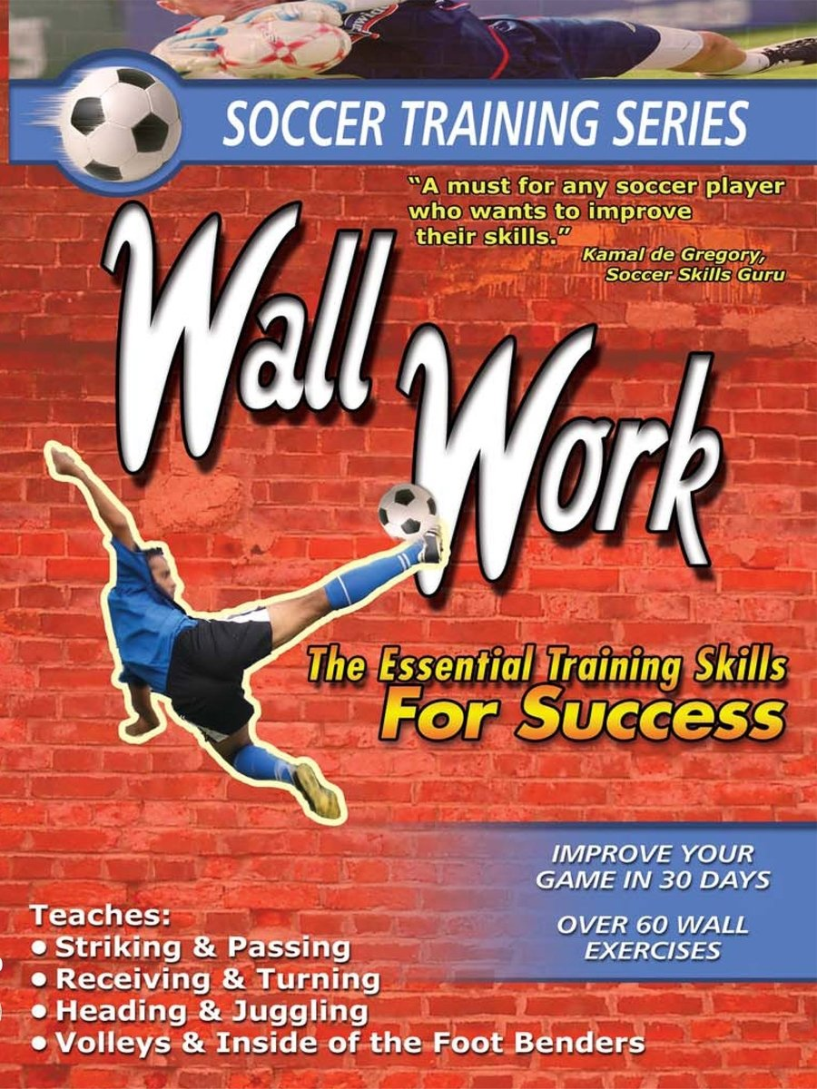 amazon com soccer training series soccer training wall work