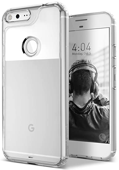 low priced 4e693 2aff3 Caseology for Google Pixel case [Waterfall Series] - Slim Clear Transparent  Protective Shock Absorbing Air Space Technology Design Case for Google ...