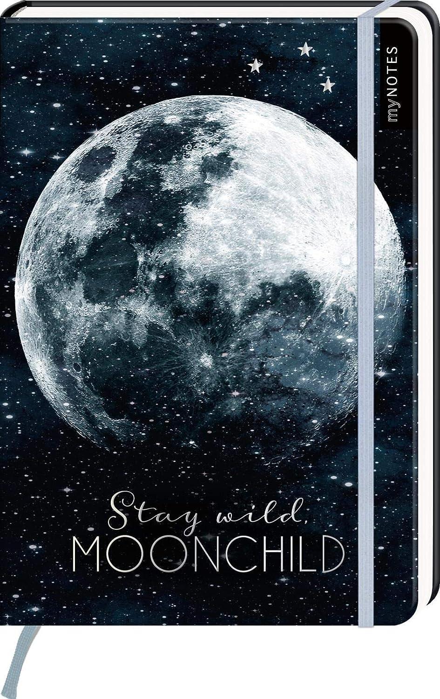 Pl/äne und Ideen // ideal als Bullet Journal oder Tagebuch Moonchild Stars Sticker A5 Notizbuch f/ür Tr/äume YellowMedia Stay wild