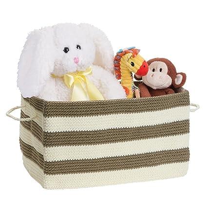mDesign - Recipiente tejido, organizador del armario del bebé/de la guardería; organiza