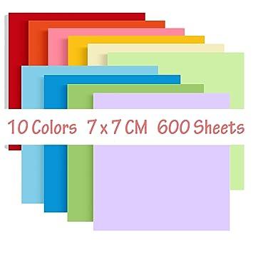 308c5dc56a2851 Liwute Origami Paper 7 x 7 cm papier origami loisirs créatifs pour enfants  facile papier travaux