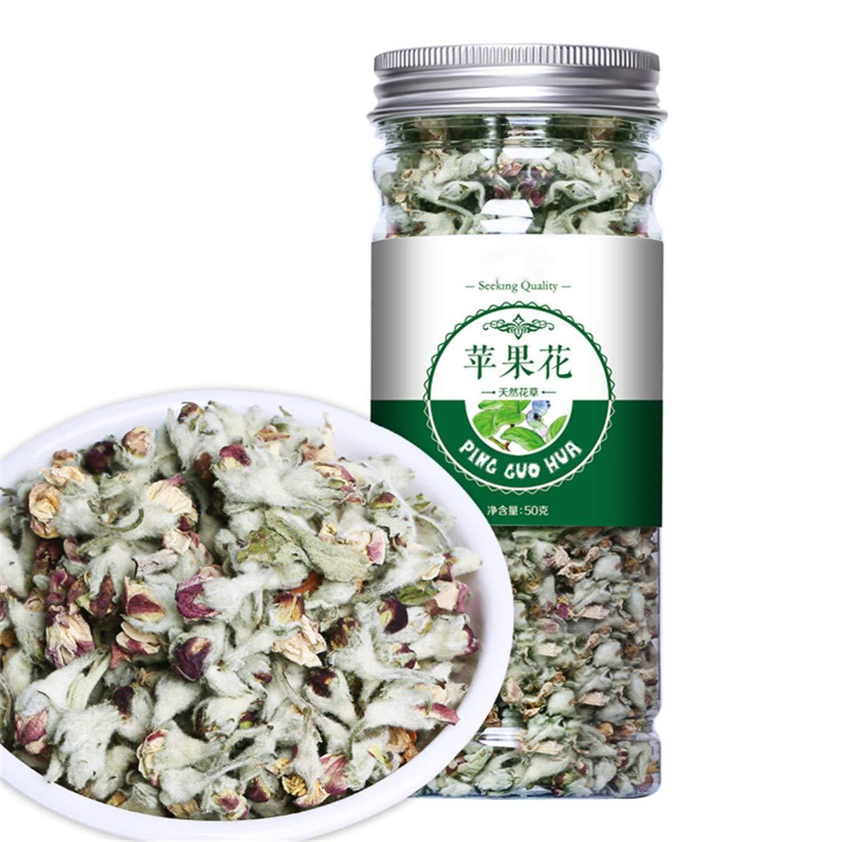 Chinese Herbal Tea Flower Fruit Tea Rose Tea Canned Golden Silk Chrysanthemum Bottled New Scented Tea Flowers Tea Green fat loss tea(50g Apple Blossom)