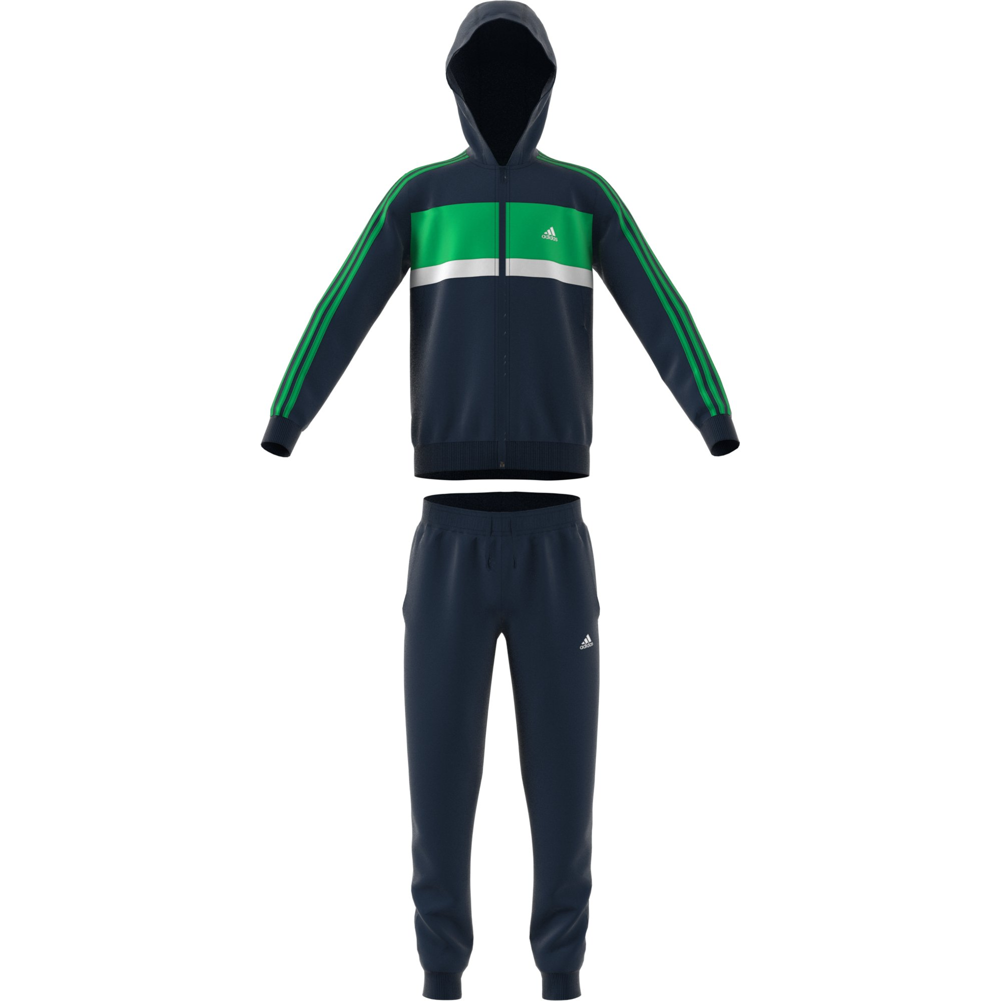 adidas Boys Kids Track Suit Training Running Hoodie Pants Gym School New (110/4-5 Years)