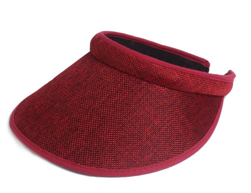 Roffatide Women's Cotton Satin Clip-On Visor LT8020-5