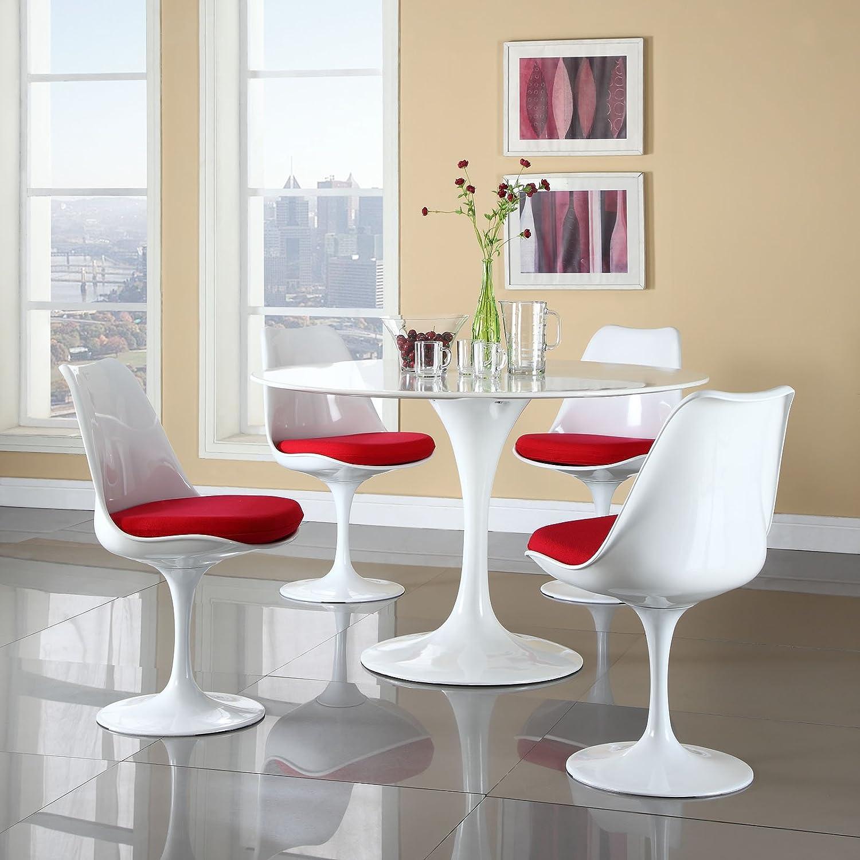 Amazon.com   Modway Lippa 5 Piece Fiberglass Dining Set In Black   Table U0026  Chair Sets
