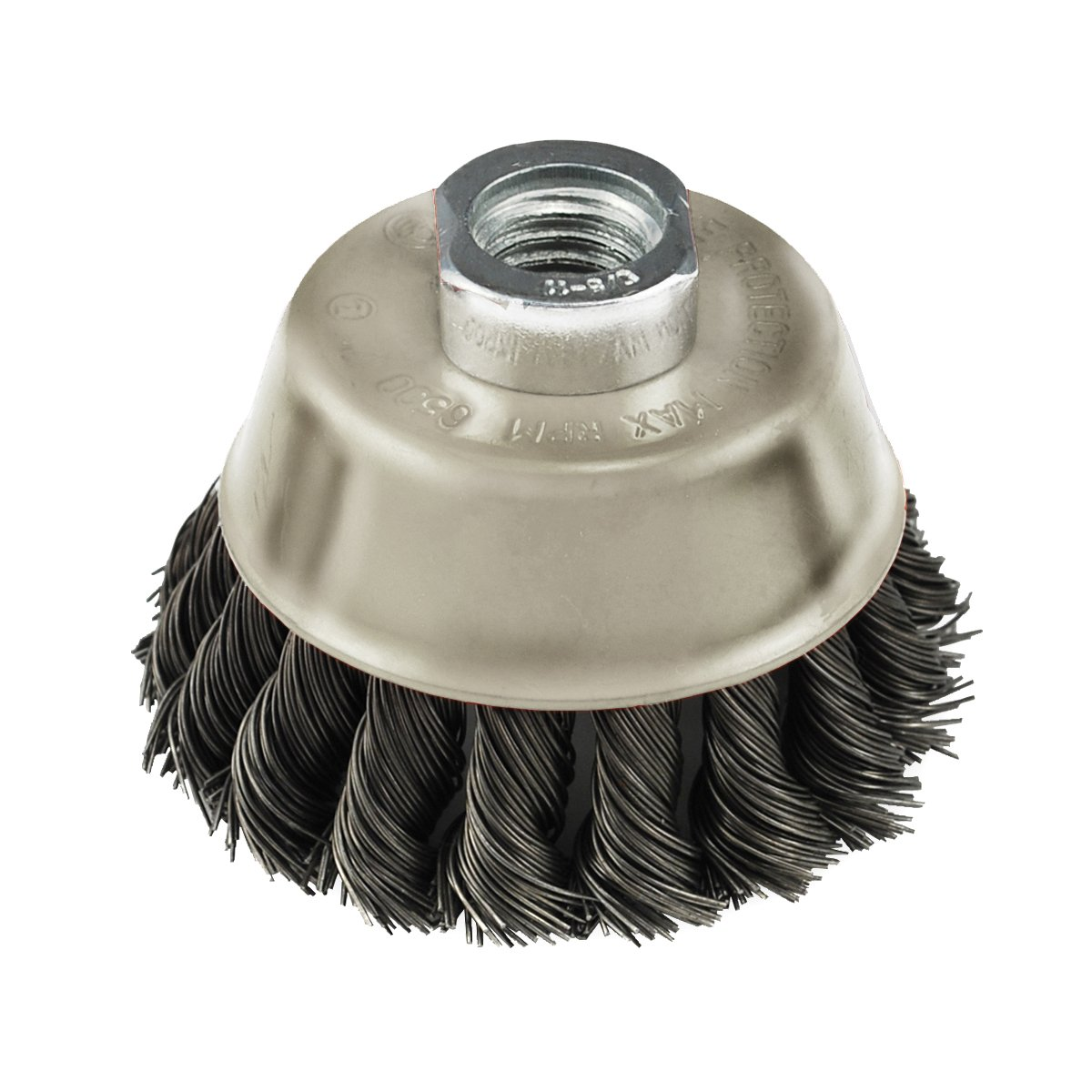 IVY Classic 39046 6-Inch x 5/8-Inch-11 Arbor, Carbon Steel Knot Wire Cup Brush - 0.020-Inch Coarse, 1/Card Ivy Classic Industries