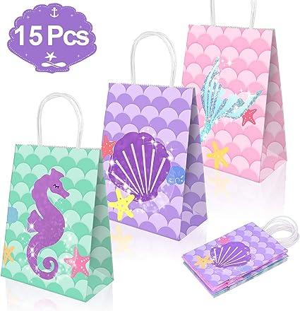 Amazon.com: Bolsas de regalo de sirena, suministros de ...