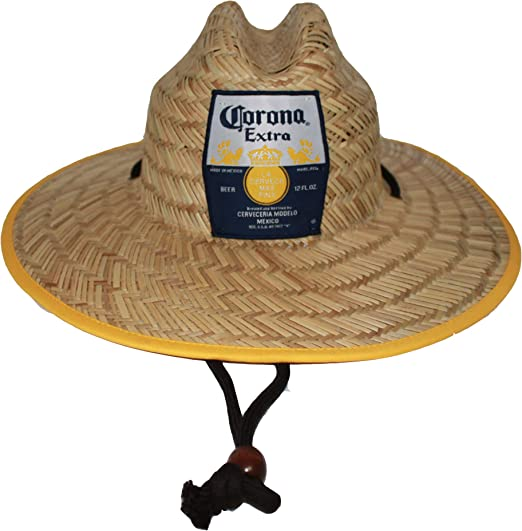 Corona Extra Men S Straw Beach Hat Logo Inside Brim Print Great For Surf And Sun At Amazon Men S Clothing Store