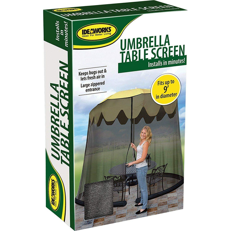 Garden Creations JB5678 Outdoor 9-Foot Umbrella Table Screen, Black by Garden Creations