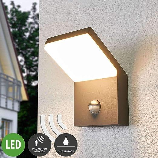 LED Lámpara de pared exterior Yolena (Moderno) en Negro hecho de Aluminio (1 llama, A+)