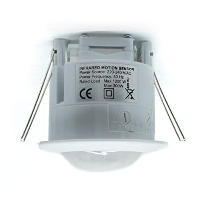 Landlord Direct Supplies - Sensor de movimiento con infrarrojos LED empotrables (PIR, 360º