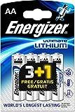 Batterie Energizer Ultimate Lithium AA, 4 batterie (3 + 1 gratis)
